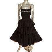 Vtg MGM Hollywood Star Elaine Ravell Estate 1940's Rare Miss America silk peplum layered gown