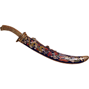 Chinese Cloisonné Letter Opener Paperknife Dragon And Phoenix.