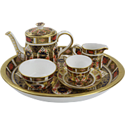 Royal Crown Derby - Traditional Imari Miniature Tea Set