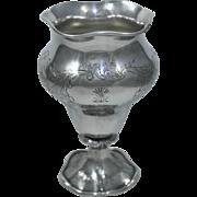 RARE Lincoln & Reed Boston Coin Silver Vase, Circa 1846