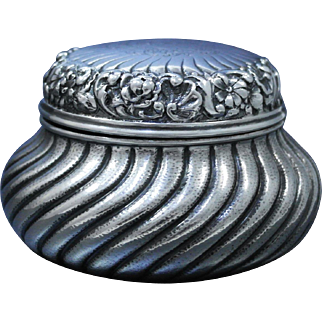 RARE Gorham Sterling Silver Repousse Jar, Special Order, One Of A Kind