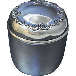 Whiting Sterling Silver Jar, Hand Wrought