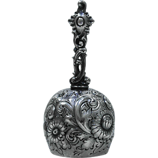 Howard & Co. Sterling Silver Tea Dinner Bell, Repousse