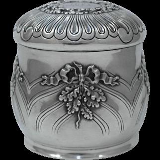 Tiffany & Co. Sterling Silver Jar, Circa 1886
