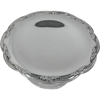 Tiffany & Co. Sterling Silver Tazza, Footed Tray, Circa 1911