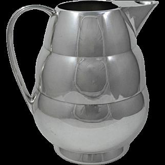 Meriden Beehive Silver Plate Water Pitcher
