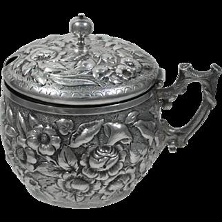 Dominick & Haff Sterling Silver Repousse Condiment Pot