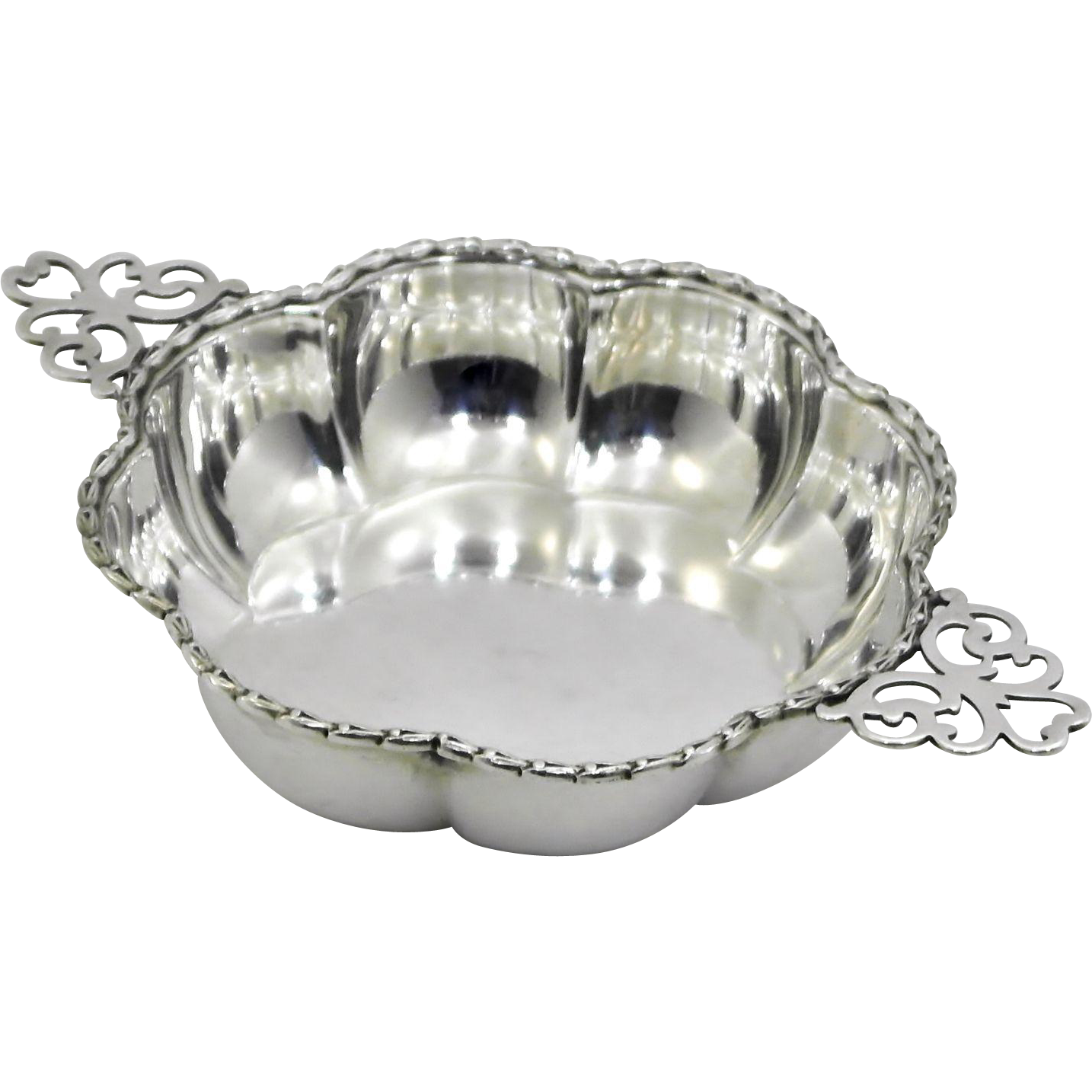 Adie brothers birmingham sterling silver scalloped bowl for Sell jewelry birmingham al