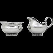 Wilhelm Binder German Sterling Silver Mid Century Modern Sugar & Creamer