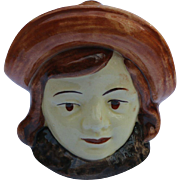 St Clemons Majolica Bank - Woman's Head