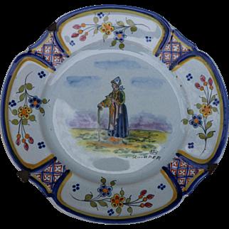Quimper Plate