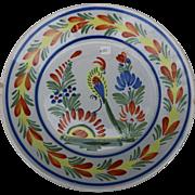 Quimper Bird Plate