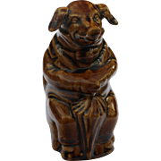 Brown Pig Majolica Bank