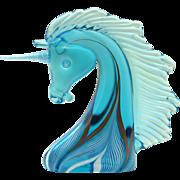 Vintage Stuart Abelman Unicorn in Blue
