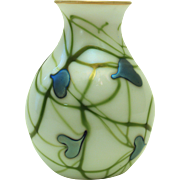 Early Charles Lotton Hearts and Vines Vase