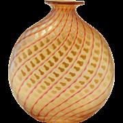 Correia Art Glass Squash Vase