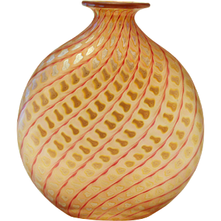 Correia Art Glass Squash Vase