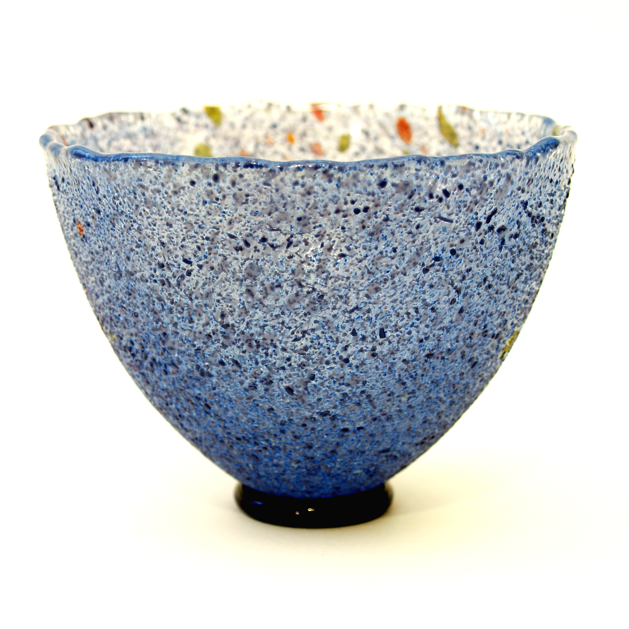 kosta boda artist collection glass bowl dark blue from melange  - roll over large image to magnify click large image to zoom
