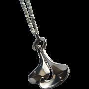 David-Andersen Midcentury Modern Sterling Silver Pendant