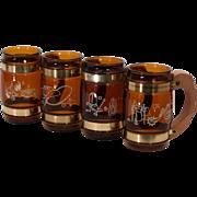 Vintage Siesta Ware Western Theme Mugs