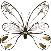 C. Jere Large Butterfly Wall Sculpture
