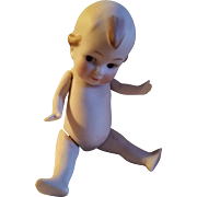 Adorable German Kewpie All Bisque Jointed Doll