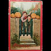 Tuck's Antique Halloween Post Card Cute!!