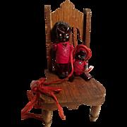 Cute Little Pair of Black Celluolid Dolls
