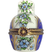 RARE Limoges Urn Trinket Box with Perfume Bottle