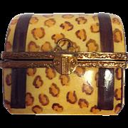 Leopard Print Limoges Trinket Box