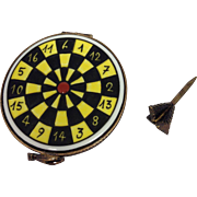 Limoges Trinket Box-Dart Board