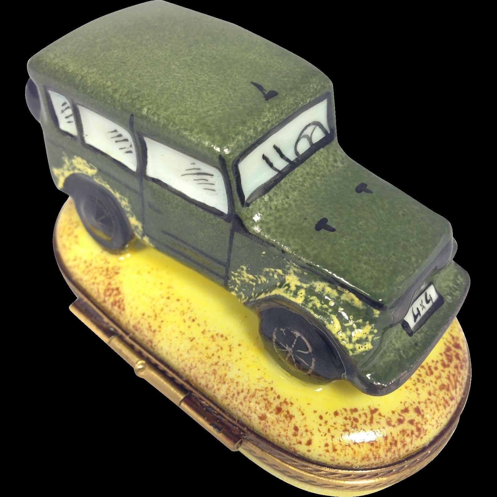 limoges trinket box range rover 4 x 4 retired design from art deck on ruby lane. Black Bedroom Furniture Sets. Home Design Ideas