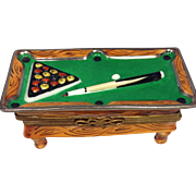 Limoges Porcelain Trinket Box Billiards Table-RETIRED