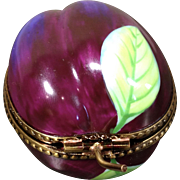 Limoges Trinket Box-Plum