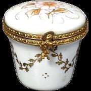 VERY RARE La Seynie Limoges Porcelain Trinket Box