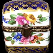 Limoges Porcelain Trinket Perfume Box-Museum Quality-RARE