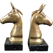 Bronze Antique Horse Head Book Ends