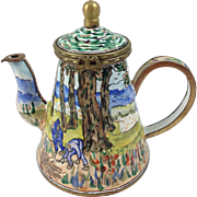 Kelvin Chen Collectible Enameled Miniature Teapot