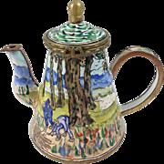 Kelvin Chen Collectible Enameled Miniature Teapot