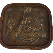 Antique Austrian Copper Pin Tray