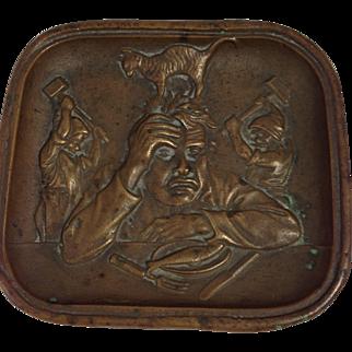Antique Austrian Copper Pin Tray