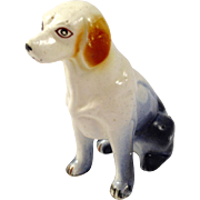 Vintage Ceramic/Porcelain Hand Painted Hound Dog (Press Mold)