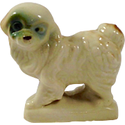 Vintage Japanese Porcelain Bichon Frise Pup (PRESS MOLD)