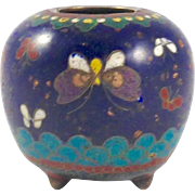 Antique Japanese Cloisonne Jar Vase