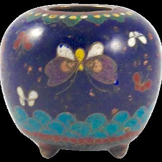 Antique Japanese Cloisonne Jar Vase
