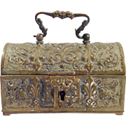 Antique late 18th, early 19th Century German Bronze Casket Box