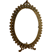 Vintage Gold over Cast Iron Frame