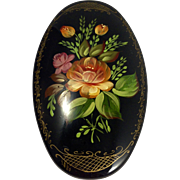 Russian Hand Painted Metal Box