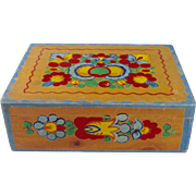 Antique Dutch-Style Hand Painted Box-Large