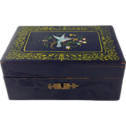 Antique Keepsake Hand Painted Wood Box